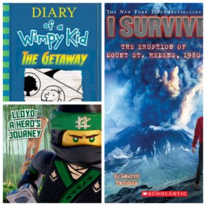 Diary of a Wimpy Kid Getaway, Lloyd: A Hero's Journey, I Survived the Eruption of Mt St Helens 1980