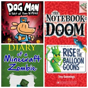 Dog Man 3, Diary of a Minecraft Zombie 1, Notebook of Doom 1