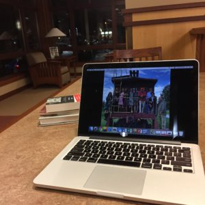 Laptop at Library