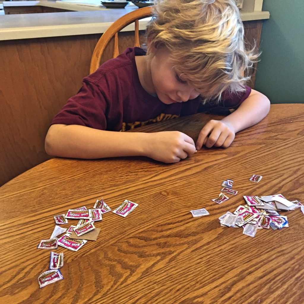 Counting Box Tops